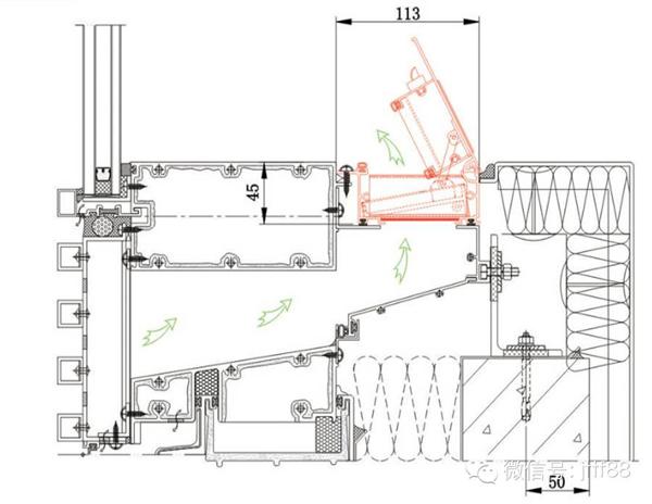 安装了家泰风幕墙通风器的智能型幕墙,如太阳能光伏幕墙,通风道呼吸式