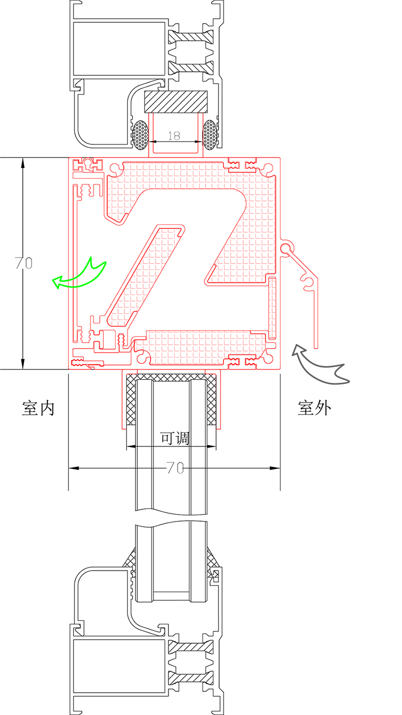 窗式自然通風器JT-216